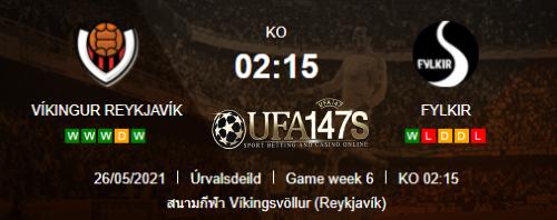 ทีเด็ดบอลเต็ง ไวกิงเกอร์ เรยาวิค VS ฟีลเคียร์ ไอซ์แลนด์ เป๊ปซี่ พรีเมียร์